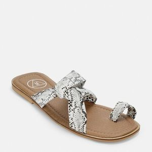Missguided grey snakeskin sandals